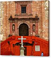 Strolling The Cathedral Plaza Canvas Print