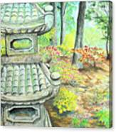 Strolling Through The Japanese Garden Canvas Print