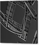 Structure - Center For Brain Health - Las Vegas - Black And White Canvas Print
