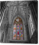 Structures Of St. Patrick Cathedral Bw Canvas Print