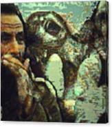 War On Three Canvas Print