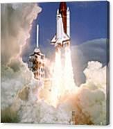 Sts-27, Space Shuttle Atlantis Launch Canvas Print