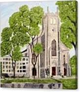 St.Thomas Anglican Church Belleville Circa1821 Canvas Print