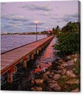 Stuart Riverwalk Sunset Canvas Print