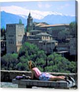 Student At The Alhambra Canvas Print