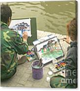 Students Painting, China Canvas Print