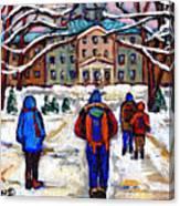 L'art De Mcgill University Tableaux A Vendre Montreal Art For Sale Petits Formats Mcgill Paintings  Canvas Print