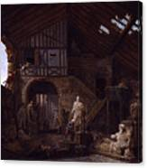 Studio Of An Antiquities Canvas Print