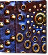 Studs On Leather Canvas Print