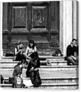 Study Break In Rome Canvas Print