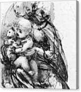 Study For A Madonna With A Cat Canvas Print