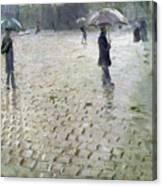 Study For A Paris Street Rainy Day Canvas Print