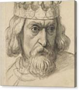 Study For The Head Of A Counsellor Canvas Print