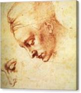 Study For The Head Of Leda Canvas Print