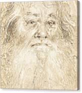 Study Of A Bearded Man [verso] Canvas Print