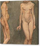 Study Of A Naked Model Canvas Print