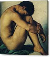 Study Of A Nude Young Man Canvas Print