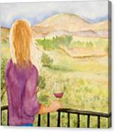 Study Of A Wine Ad Canvas Print