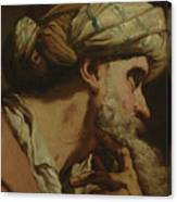 Study Of An Oriental Head Canvas Print