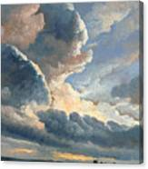 Study Of Clouds With A Sunset Near Rome Canvas Print