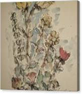 Study Of Flowers O Canvas Print