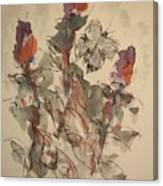 Study Of Flowers Y Canvas Print