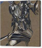 Study Of Perseus In Armour For The Finding Of Medusa Canvas Print
