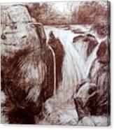 Study Of Rocks At Betws-y-coed Canvas Print