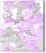 Study Purple And Gray Canvas Print