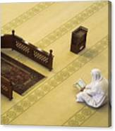 Studying The Quran Canvas Print