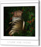 Stump And Frond Poster Canvas Print