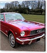 Stunning 1966 Metallic Red Mustang Canvas Print