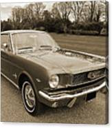 Stunning '66 Mustang In Sepia Canvas Print