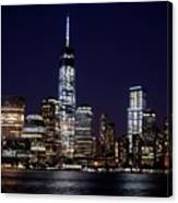 Stunning Nyc Skyline At Night Canvas Print
