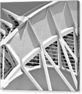 Stunning Structure - Black And White Canvas Print