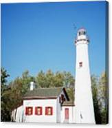 Sturgeon Point Lighthouse, Michigan - Horizontal Canvas Print
