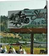 Sturgis City Of Riders Canvas Print