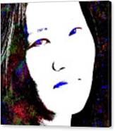 Stylized Woman's Portrait Canvas Print