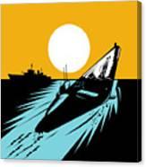 Submarine Boat Retro Canvas Print