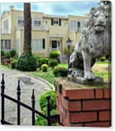 Suburban Antique House With Lion Hayward California 22 Canvas Print