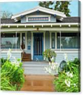 Suburban Arts And Crafts House Hayward California 8 Canvas Print