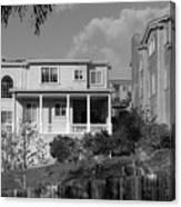 Suburban House On Hayward Boulevard Hayward California 2 Canvas Print