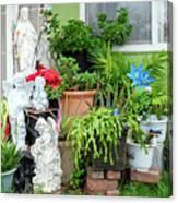 Suburban House With Front Yard Religious Shrine Hayward California 10 Canvas Print