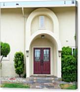 Modern Suburban House With Topiary Hayward California 31 Canvas Print