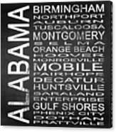 Subway Alabama State Square Canvas Print