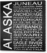 Subway Alaska State Square Canvas Print