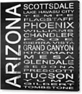 Subway Arizona State Square Canvas Print