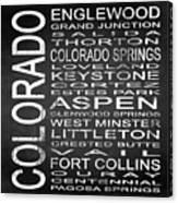 Subway Colorado State 2 Square Canvas Print