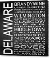 Subway Delaware State Square Canvas Print