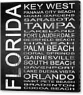 Subway Florida State 3 Square Canvas Print